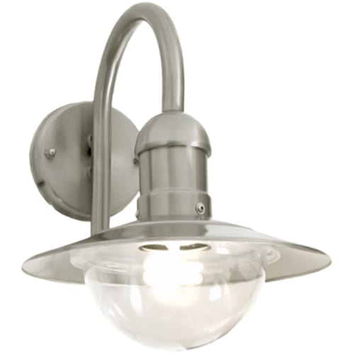 Stainless Steel Outdoor Light With Clear Polycarbonate Cover