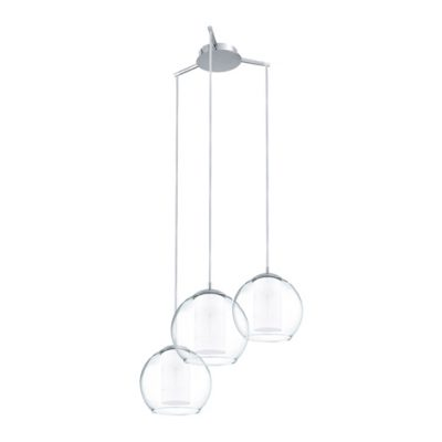 Bolsano Three Light Chrome Pendant