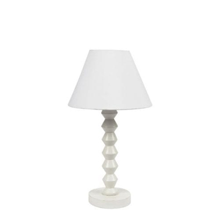 Whte Wash Wooden Lamp