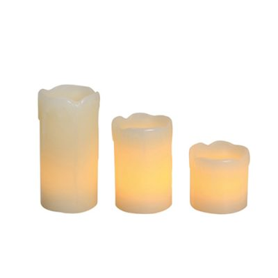 LED Flameless Candle Set Dripping 3PC