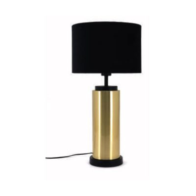 Barry brass cylinder table lamp