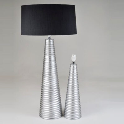 Grooved Ceramic Table Lamp