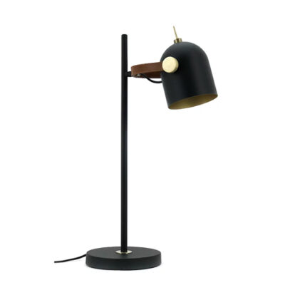 Leather bound straight desk lamps